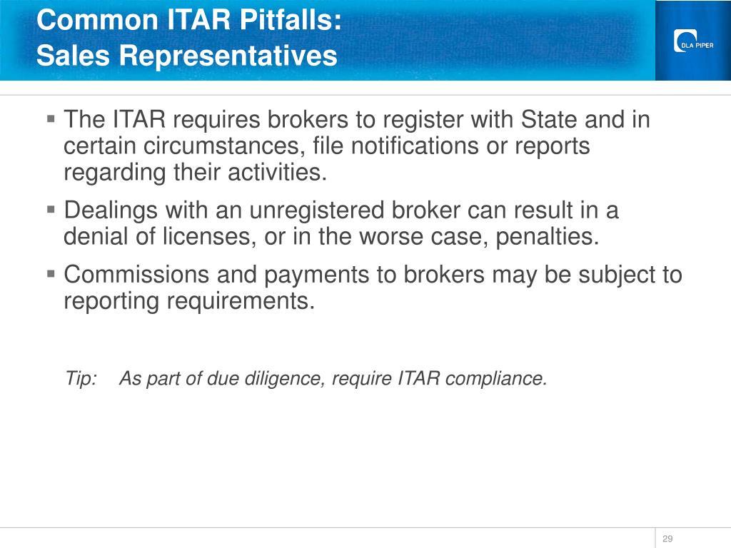 Common ITAR Pitfalls: