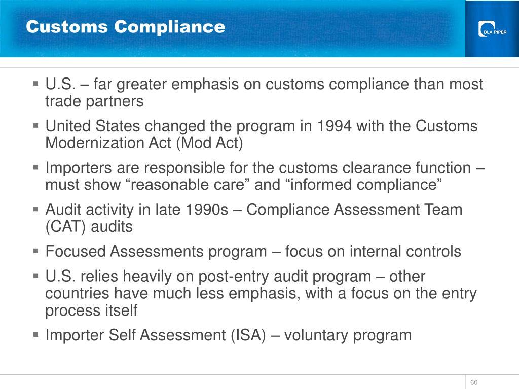 Customs Compliance