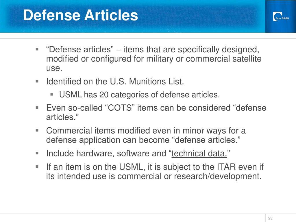 Defense Articles