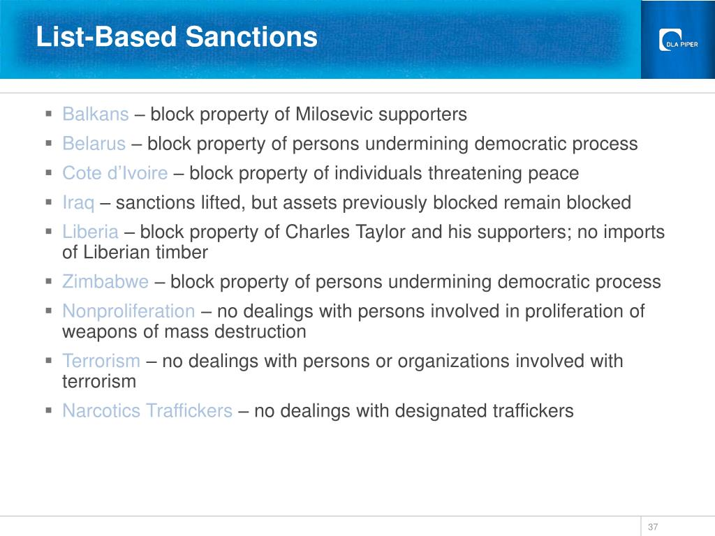 List-Based Sanctions
