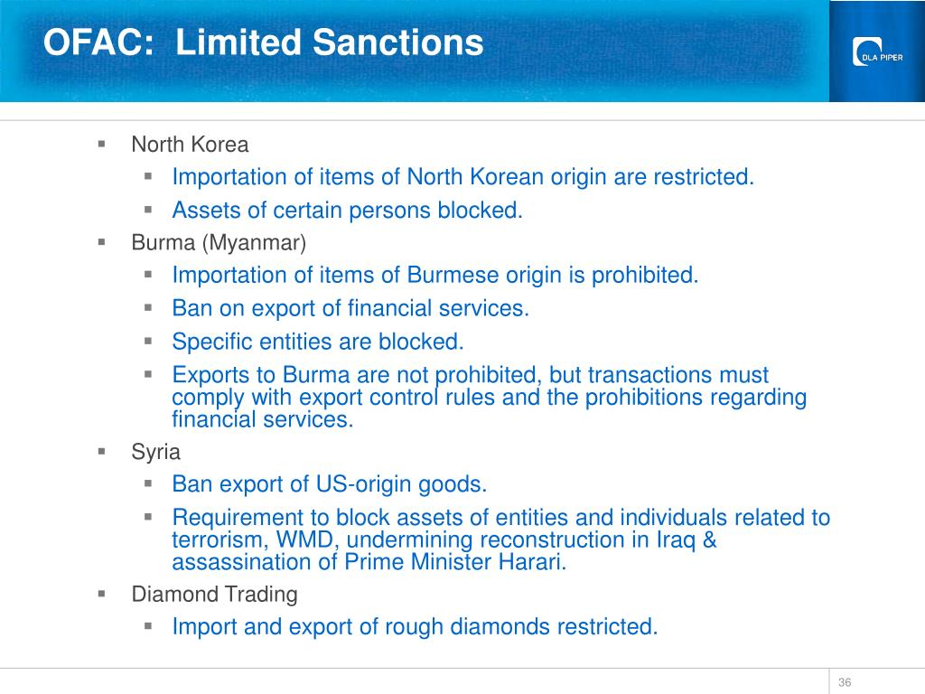 OFAC:  Limited Sanctions