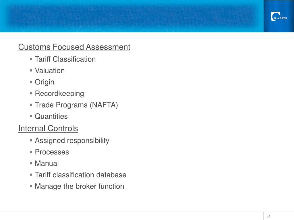 Customs Focused Assessment