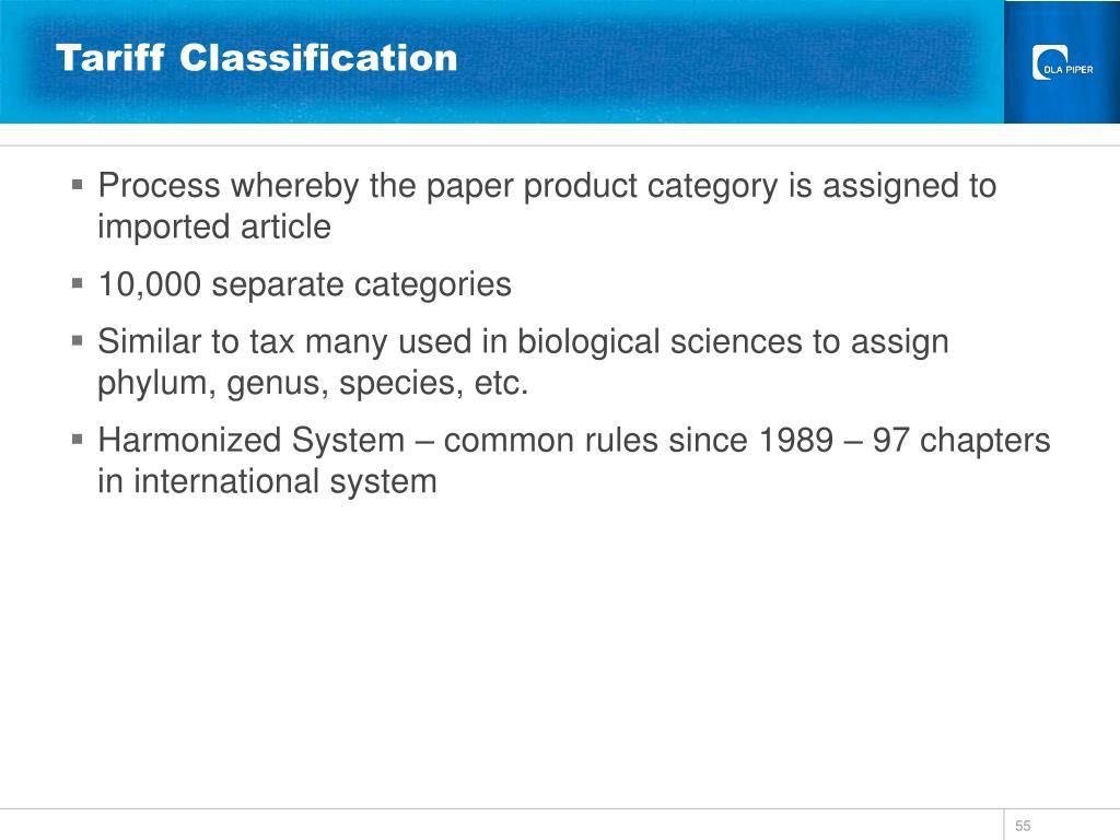 Tariff Classification