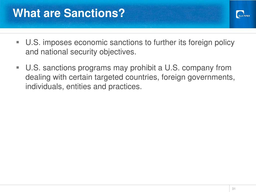 What are Sanctions?