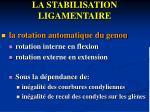 la stabilisation ligamentaire1