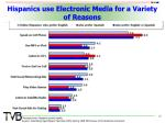 hispanics use electronic media for a variety of reasons