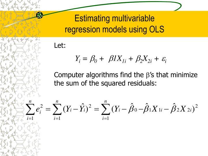 Estimating multivariable