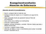exanguineotransfusi n atenci n de enfermer a1