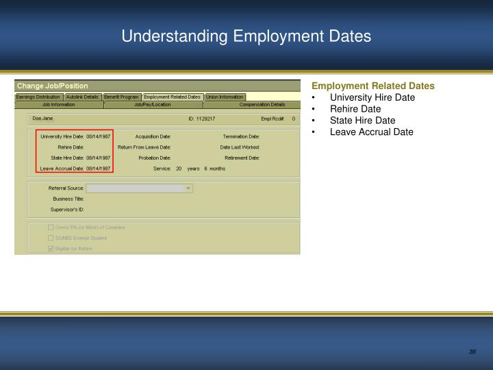 Understanding Employment Dates