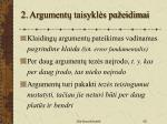 2 argument taisykl s pa eidimai