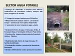 sector agua potable