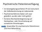psychiatrische patientenverf gung