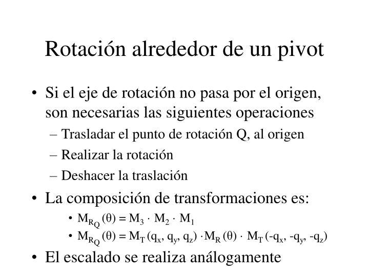Rotación alrededor de un pivot