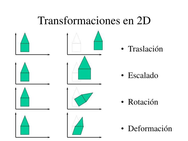 Transformaciones en 2D
