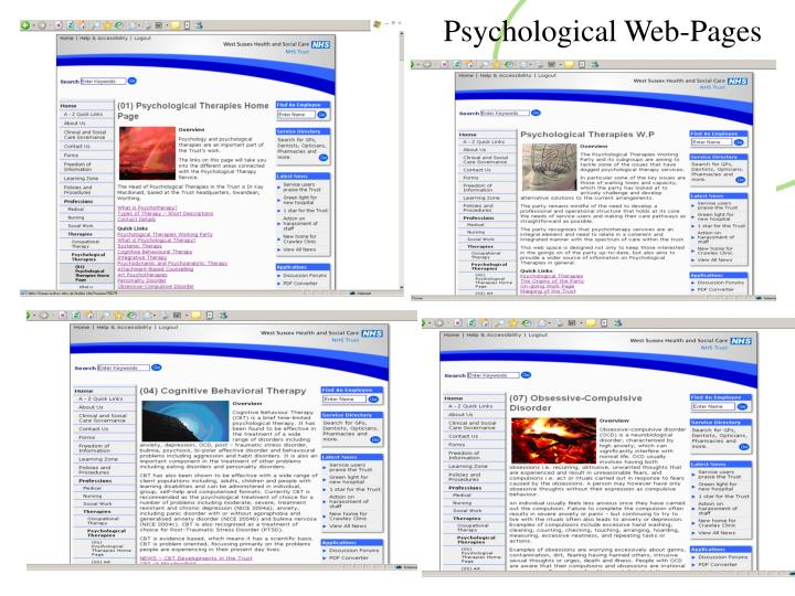 Psychological Web-Pages
