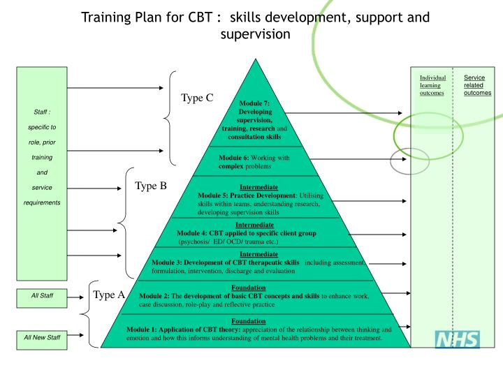 Training Plan for CBT :  skills development, support and supervision