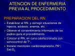 atencion de enfermeria previa al procedimiento