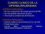 cuadro clinico de la hiperbilirrubinemia