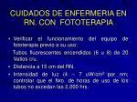 cuidados de enfermeria en rn con fototerapia