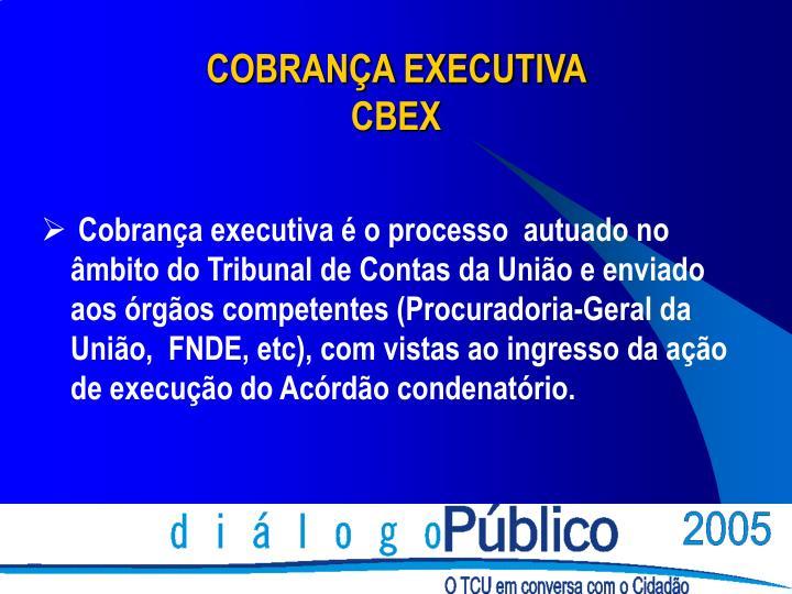COBRANÇA EXECUTIVA