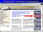 portal do tcu na internet www tcu gov br