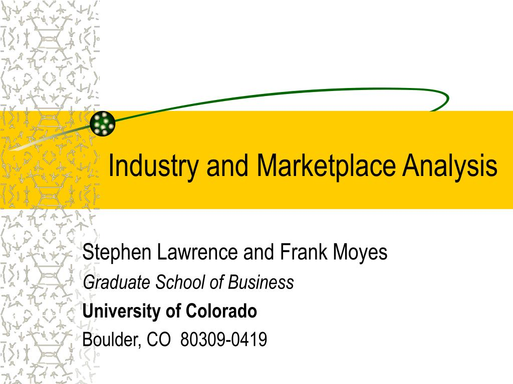 industry and marketplace analysis l.