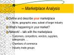 marketplace analysis