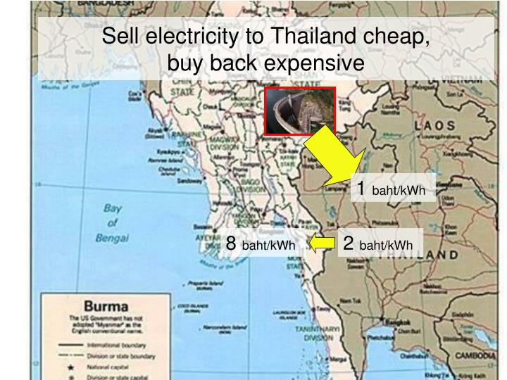 Sell electricity to Thailand cheap,