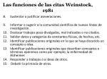 las funciones de las citas weinstock 19811