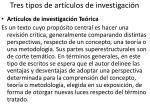 tres tipos de art culos de investigaci n2
