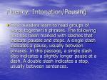 fluency intonation pausing