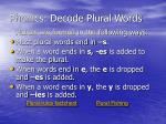 phonics decode plural words