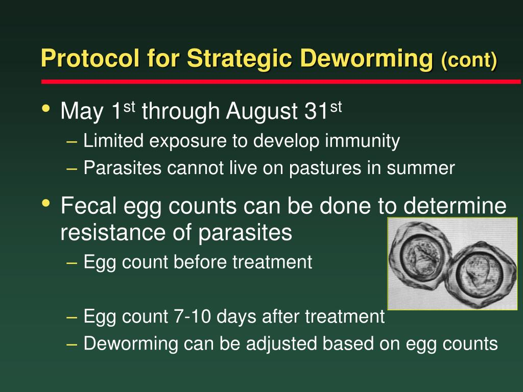 Protocol for Strategic Deworming