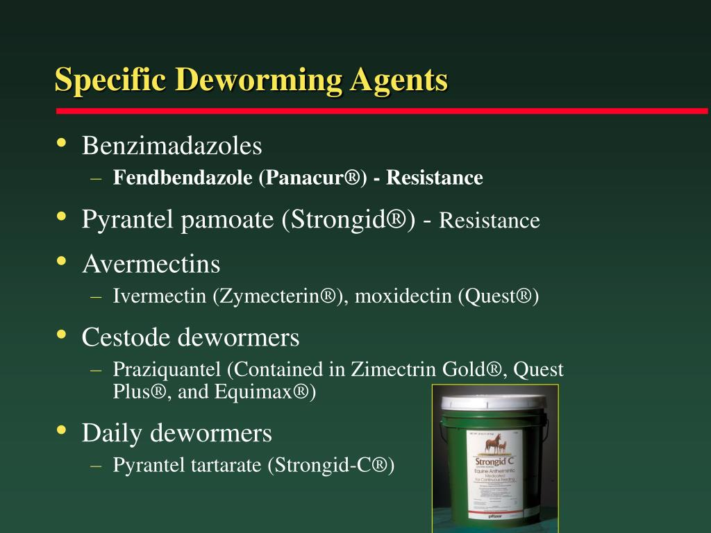 Specific Deworming Agents