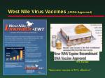 west nile virus vaccines usda approved