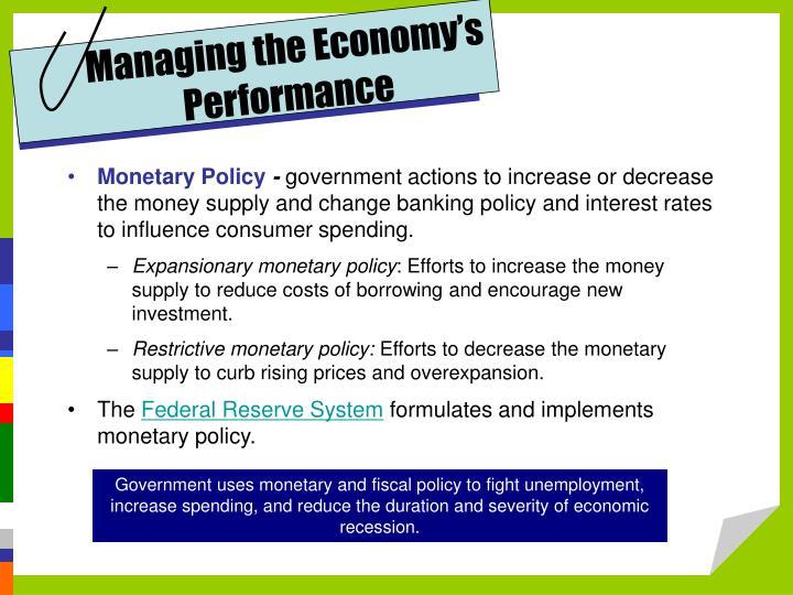 Managing the Economy's Performance