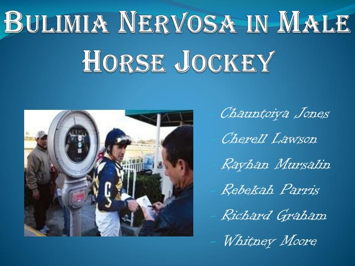 bulimia nervosa in male horse jockey n.