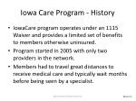 iowa care program history