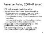 revenue ruling 2007 47 cont