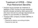 treatment of opeb other post retirement benefits