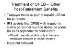 treatment of opeb other post retirement benefits1