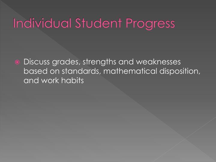 Individual Student Progress