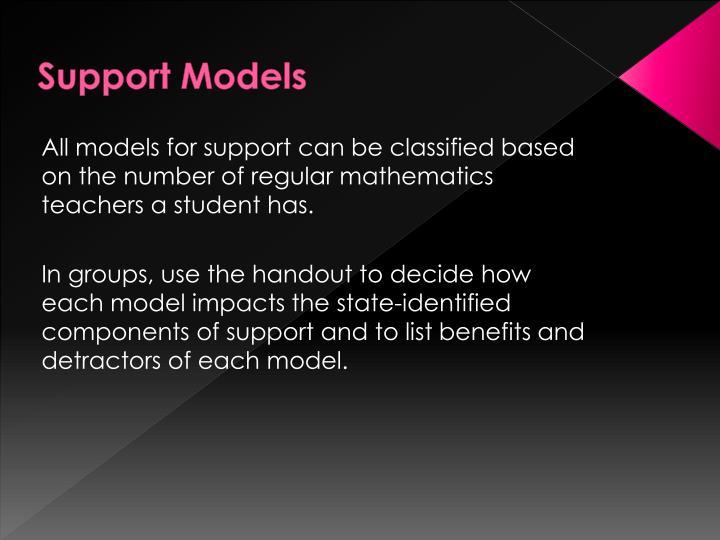 Support Models
