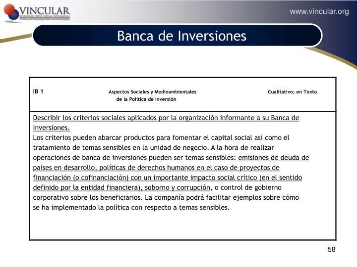 Banca de Inversiones