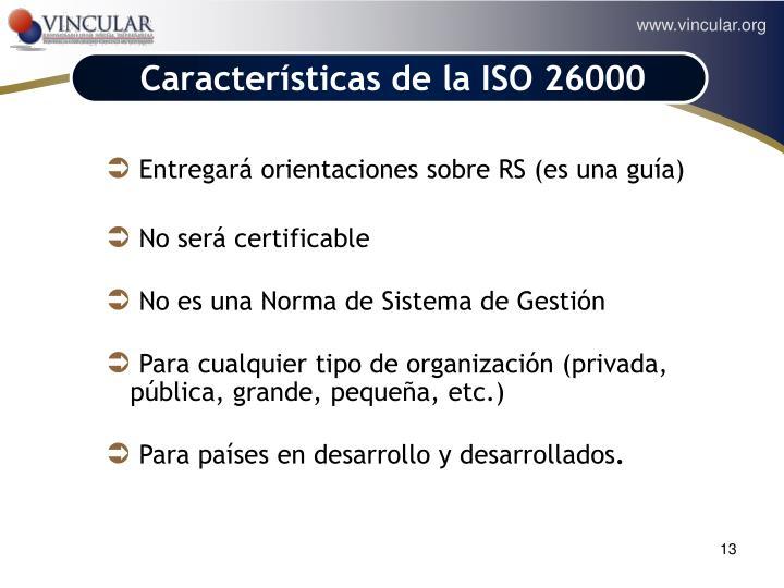Características de la ISO 26000