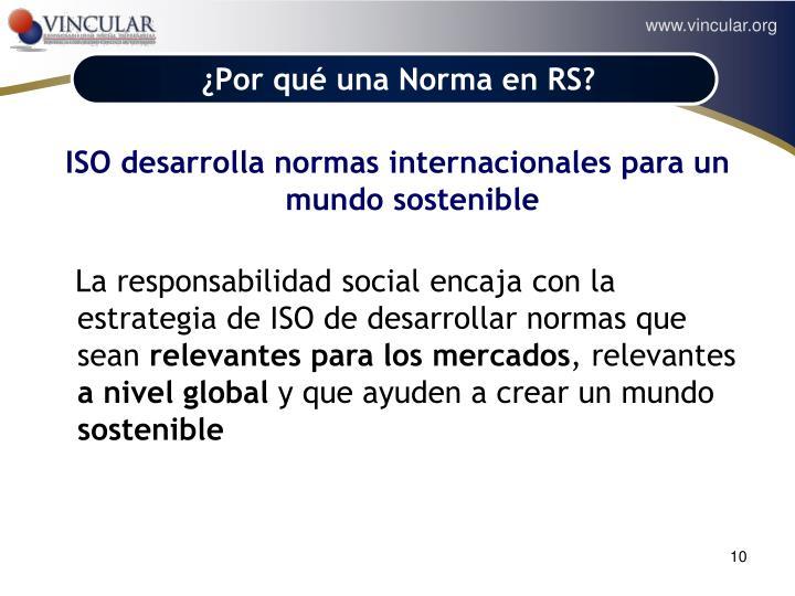 ¿Por qué una Norma en RS?
