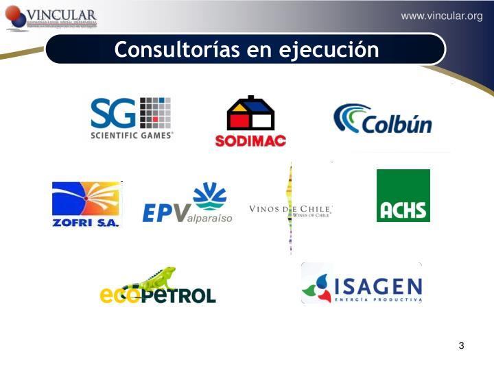 Consultorías en ejecución
