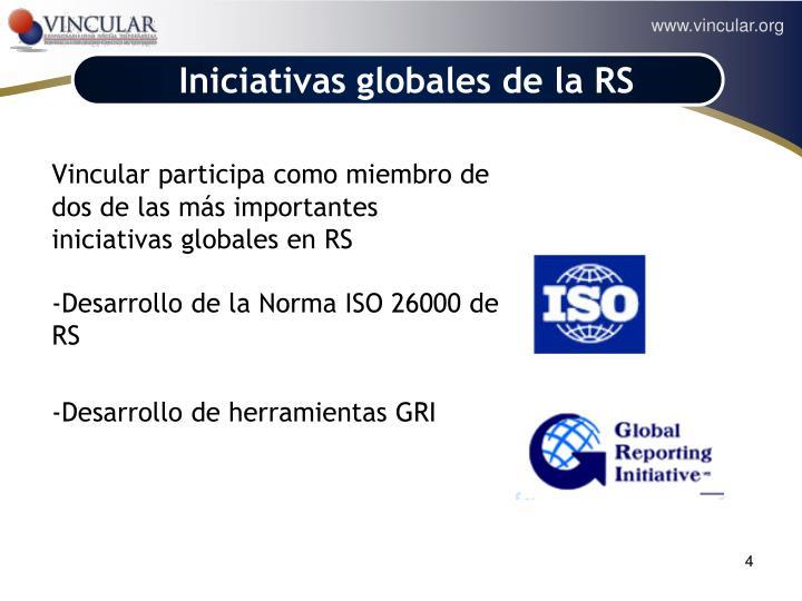 Iniciativas globales de la RS