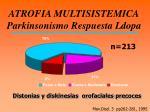 atrofia multisistemica parkinsonismo respuesta ldopa