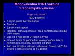 monovalentna h1n1 vakcina pandemijska vakcina